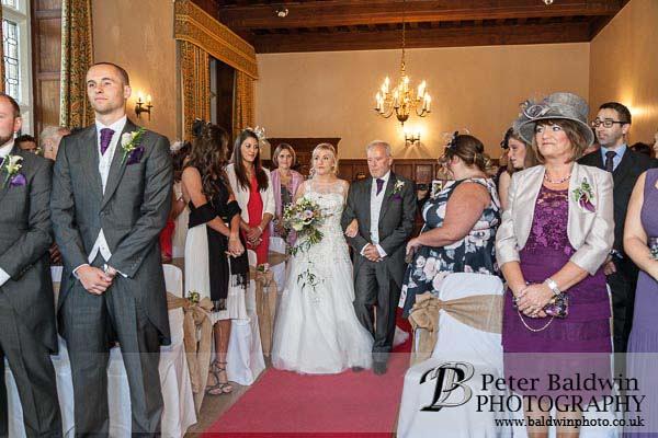 walkin, father, bride, wedding, monk fryston